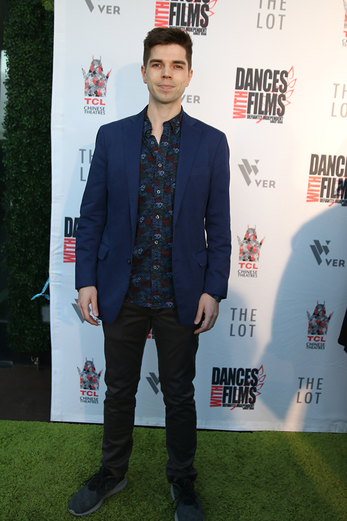 Tom Logan Gruber on the red carpet for the premiere of Dances with Films film festival in Los Angeles